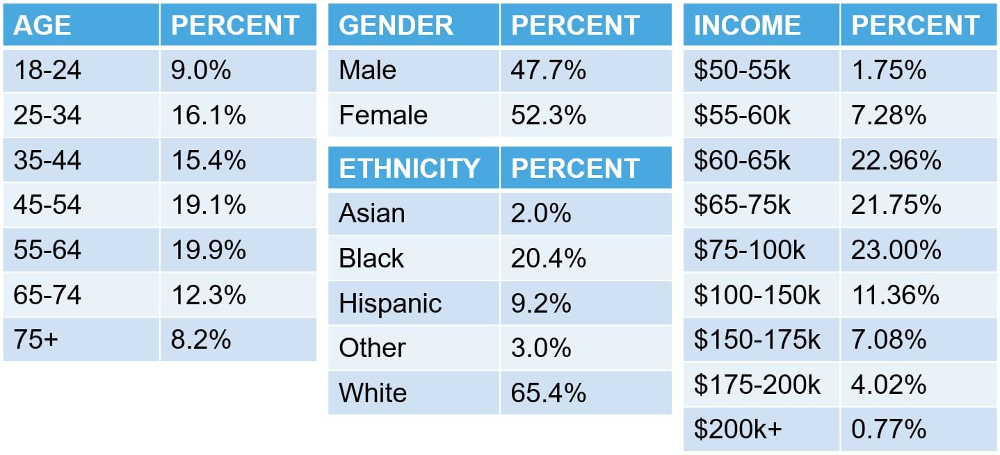 Consumer demographics from a geofence